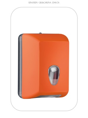 Tosca Colored Einzelblatt WC Papier Spender Orange