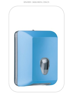 Tosca Colored Einzelblatt WC Papier Spender Blau